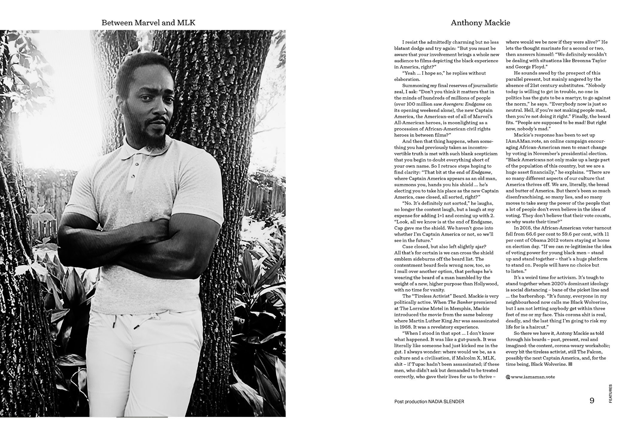 Anthony Mackie, Nick Thompson Photographer