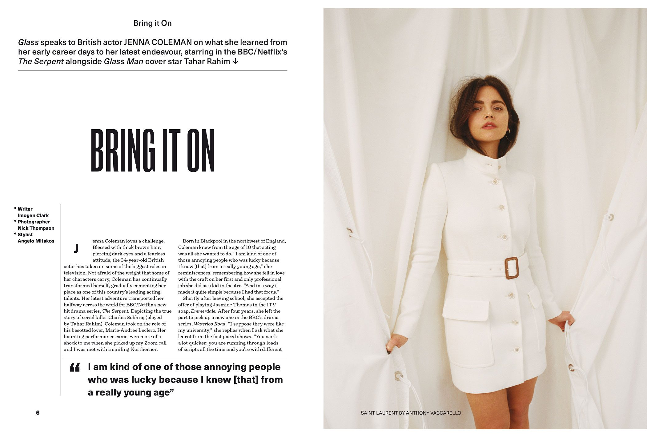 Glass Magazine Jenna Coleman Nick Thompson 1